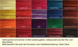 Bastelstroh in 19 Einzelfarben, 22 cm, 50 Stück