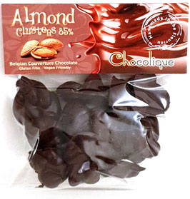 Almond Clusters - 85% Dark Chocolate