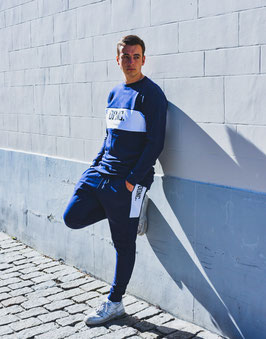 Unisex Blue/White Sweater