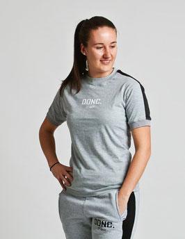 Grey Black Women's Stripe Shirt