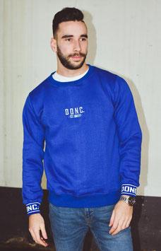 Blue Men's Script Sweater