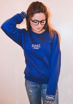 Blue Women's Script Sweater