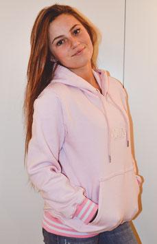 Pink Women's Double Stripe Hoodie