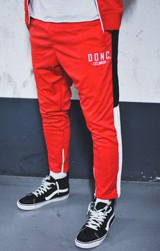 Red White Black Men's Colour Block Joggers