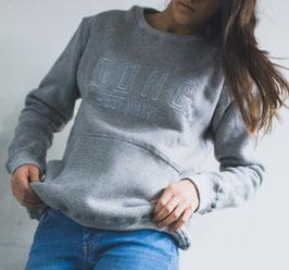 Grey Women's Sweater (oversized)