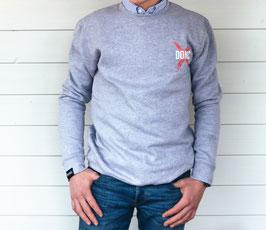 Grey Cross Sweater