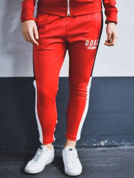 Red White Black Women's Colour Block Joggers