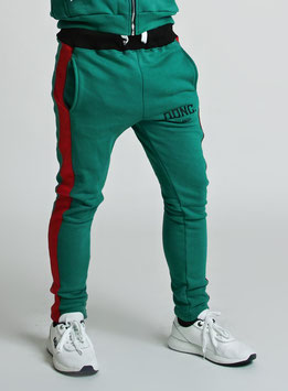 Green Red Men's Stripe Joggers