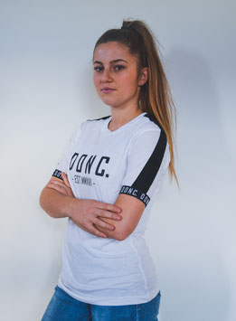 White/Black Women's Tape Shirt