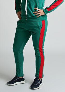 Green Red Women's Stripe Joggers