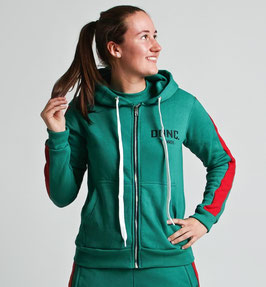 Green Red Women's Stripe Hoodie