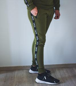 Khaki Unisex Tape Jogging
