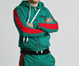 Green Red Men's Stripe Hoodie