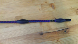Fleck Balance-Gerte Sport marine-purple mit Gummiknubbeln