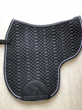 Satteldecke Classy schwarz Kordel grau und schwarz