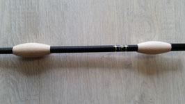 Fleck Balance Gerte schwarz mit Naturholzknubbeln