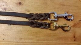 Softleder Zügel braun, aus Fettleder, weich und griffig; ca. 14mm breit (aber kräftiges Leder)  2,50 oder 2,70 (WB) lang