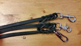 Softleder Zügel schwarz aus Fettleder; weich und griffig, ca. 14mm breit (aber kräftiges Leder) Länge 2,50m oder 2,70m WB