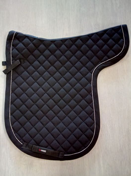 Satteldecke Catago schwarz mit silberner Biese