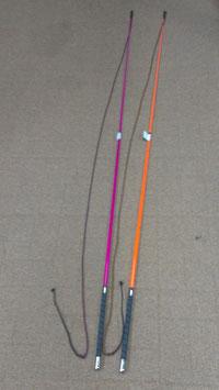 Teleskop-Longierpeitsche, federleicht mit Nylonschlag, 200cm in Leucht-Pink oder Leucht-Orange