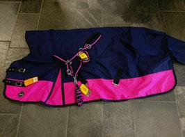 Regendecke Highneck, marine-pink
