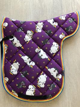 Satteldecke Pummeleinhorn mit Kari purple picture