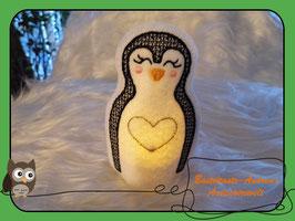 Teelichthülle Pinguin -2-