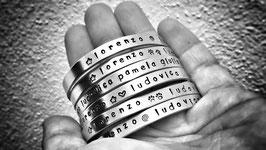 Bracciale basso rigido inciso a mano - Personalizzato