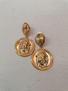 "Ohrringe ""Münze"" gold"