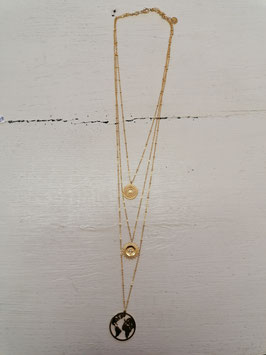 """3er Kette """"Discovery"""" Gold"""