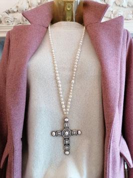 """Kette """"Pearl Cross"""""""