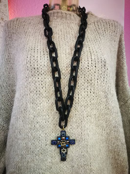 "Kette ""Cross Blue"""