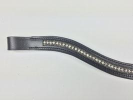 extravagantes silberfarbenes Stirnband mit Strasssteinen