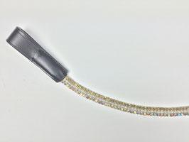 exklusives Stirnband gold mit silbernen Perlen