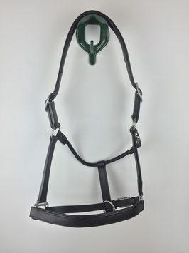 schwarzes Stallhalfter aus Leder