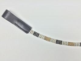 exklusives Strass Stirnband silber/schwarz/gold