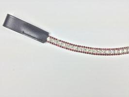 exklusives Strass Stirnband mit Strasssteinen rot/silber