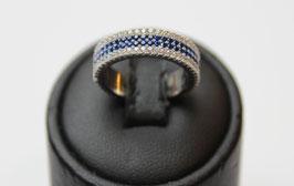 Eterne' pave' con fascia centrale color blu zaffiro  disp. mis. 11 (su richiesta altre misure)