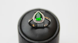 Solitario goccia verde smeraldo disp. mid. 12 ( su richiesta altre misure)