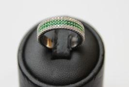 Eterne' pave' con fascia centrale color verde smeraldo disp. mis. 11 ( su richiesta altre misure)