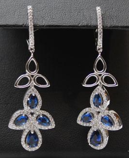Pendenti con pietre color Blu Zaffiro
