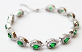Bracciale Goccia color Verde Smeraldo con chiusura regolabile