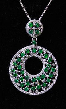 Pendente cerchio con foro centrale color Verde Smeraldo