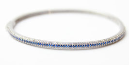 Bracciale rigido color Blu Zaffiro