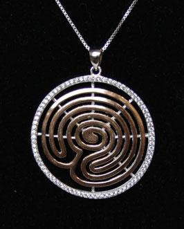 Pendente  cerchio spirale