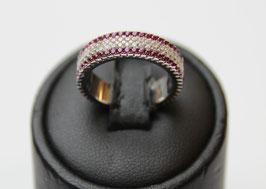 Eterne' con contorno color rosso rubino disp mis. 11 ( su richiesta altre misure)
