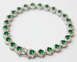 Bracciale margherita color Verde Smeraldo disp mis. 18 ( su richiesta disponibili altre misure)