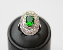 Anello losanga col. verde smeraldo disp. mis. 12 e mis. 18 (su richiesta altre misure)