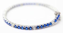 Bracciale Tennis color Blu Zaffiro disp mis. 18 ( su richiesta altre misure)