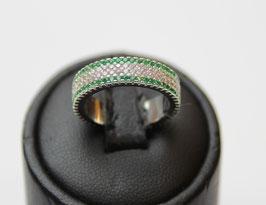 Eterne' con contorno color verde smeraldo  disp. mis. 10 e mis. 15 (su richiesta altre misure)